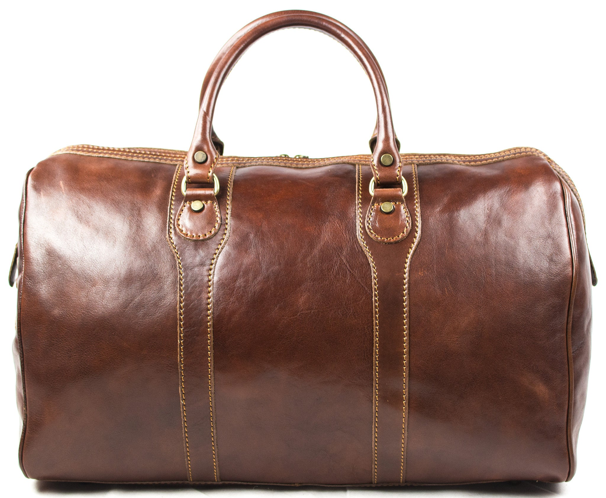 Italian Leather Medium Hand Luggage Duffell Bag