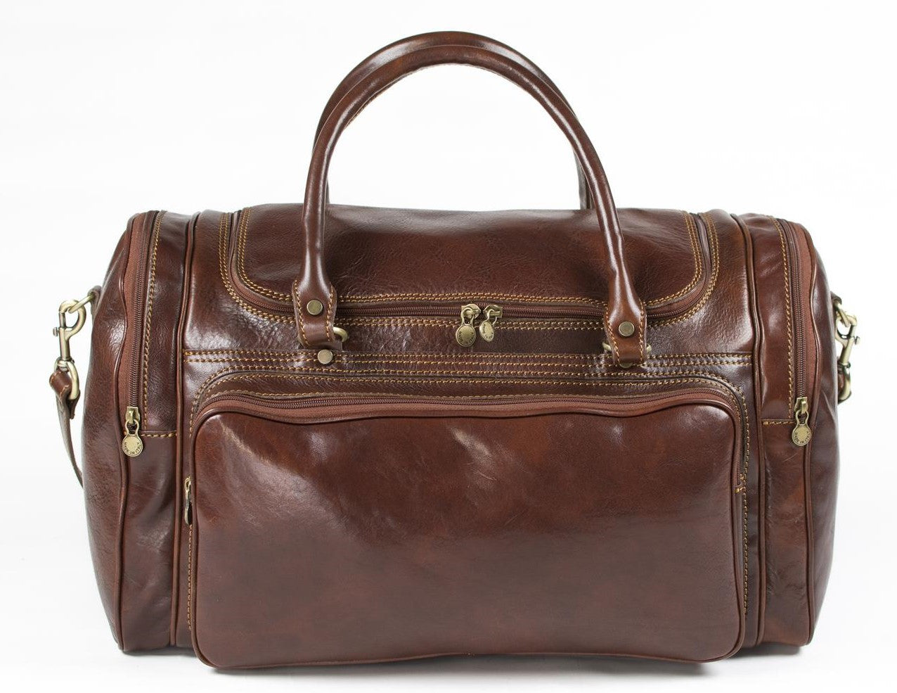 Italian Leather Traditional Holdall Gym Bag