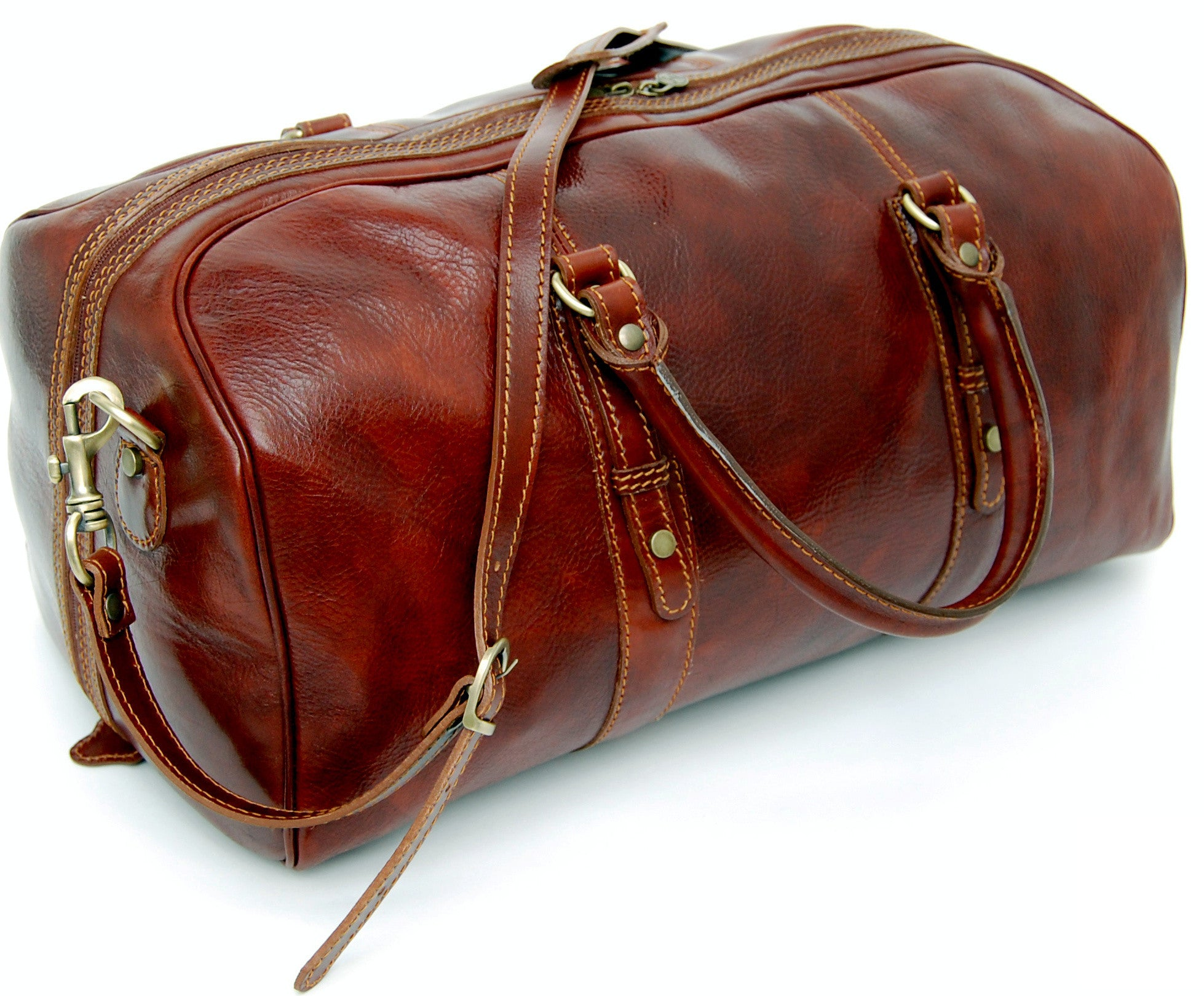 Genuine Italian Leather Holdall / Cabin Bag /...