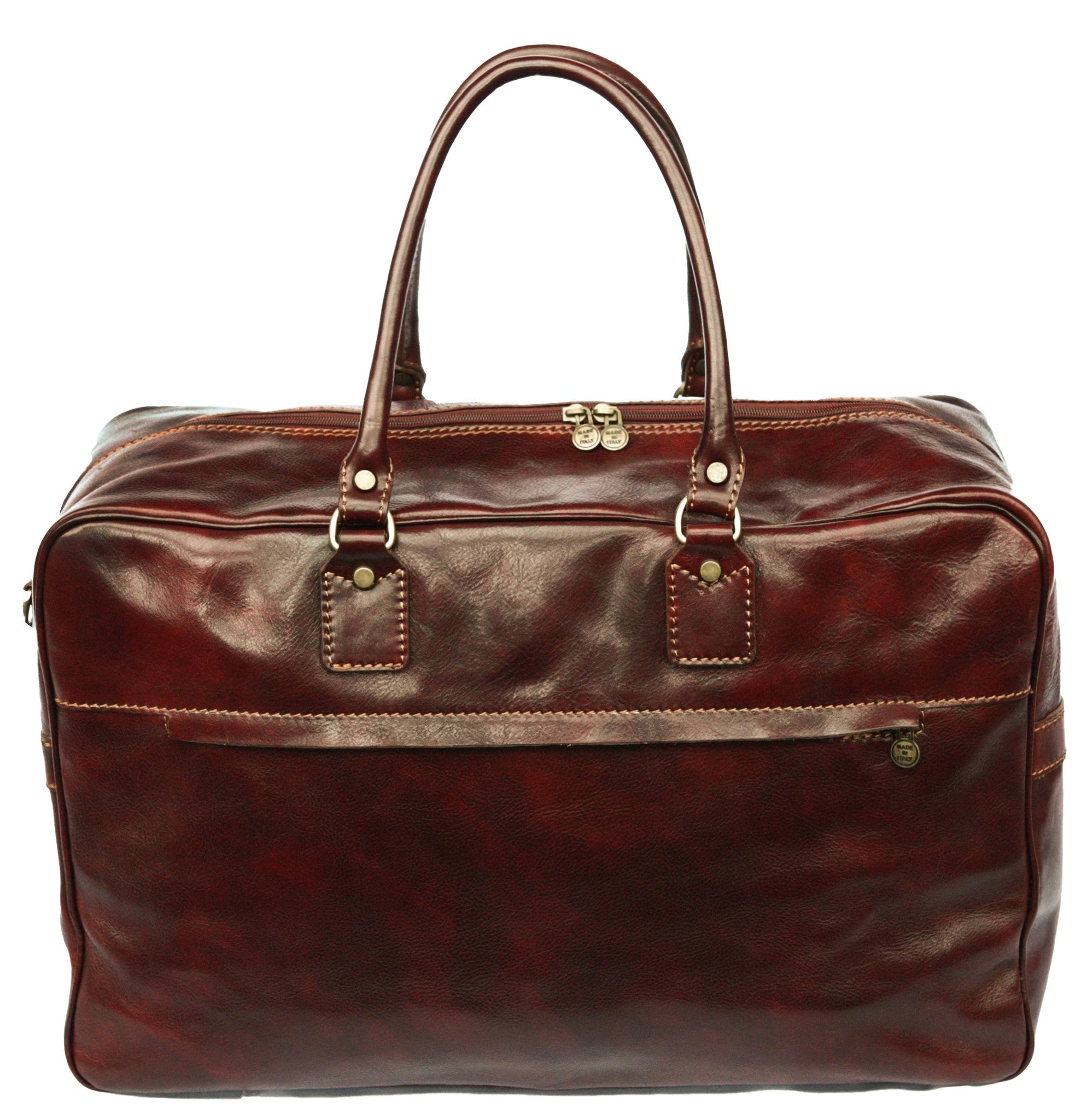 Italian Leather Large Boxer Cabin Travel Bag