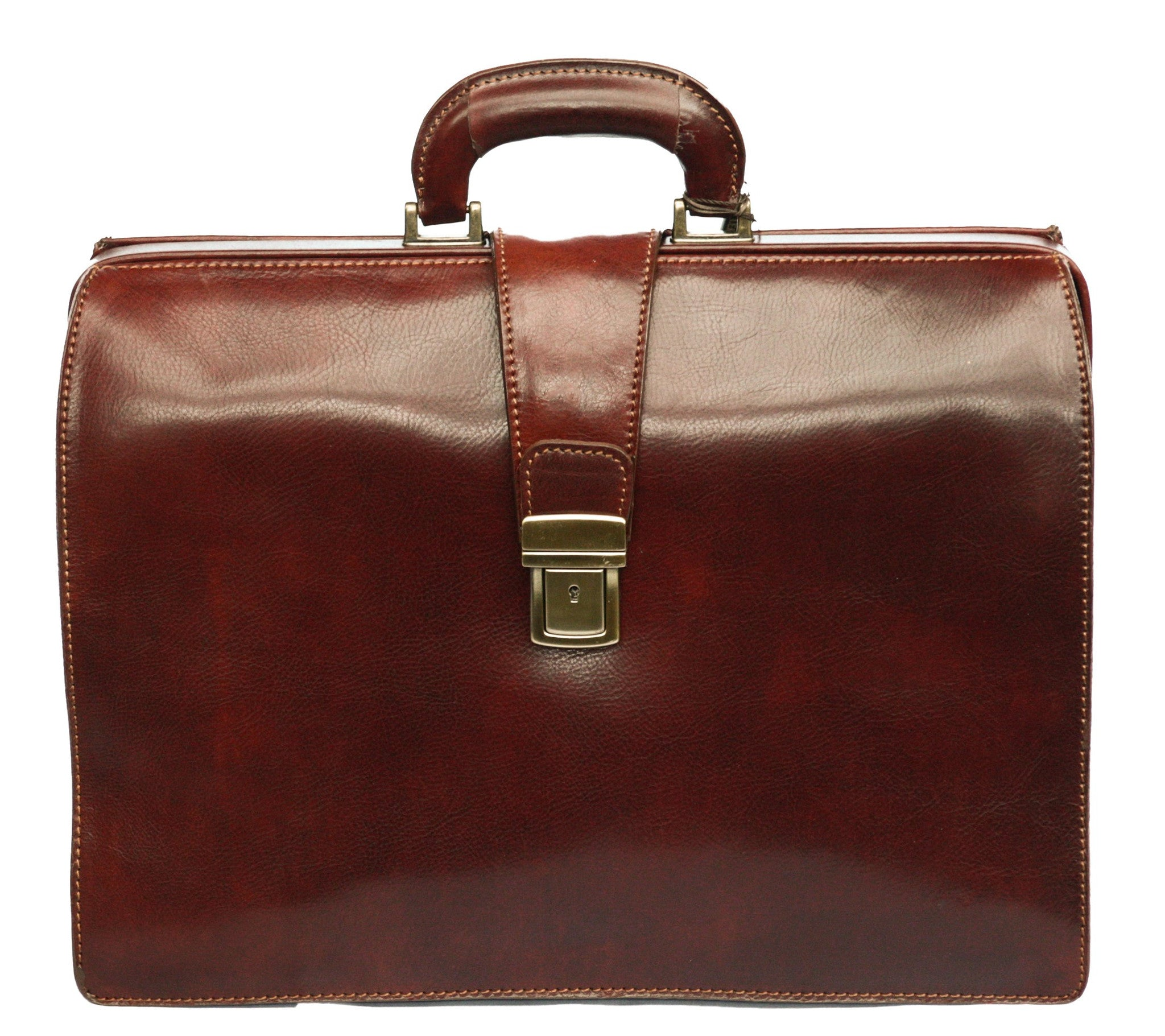 Italian Lawyers Top Opening Briefcase   Brown