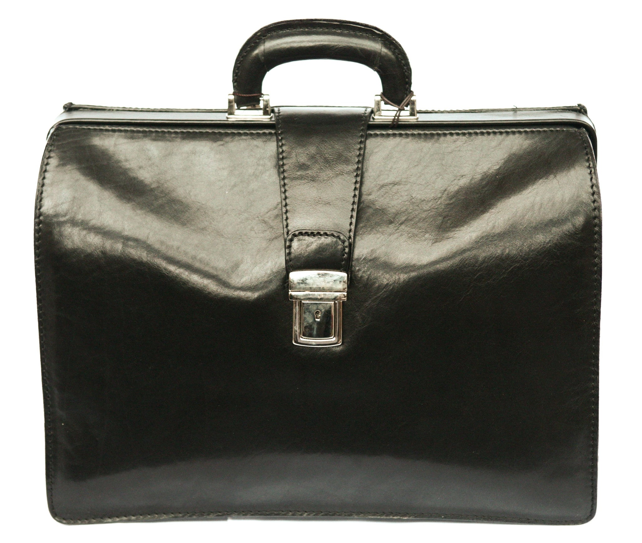 Italian Lawyers Top Opening Briefcase   Black