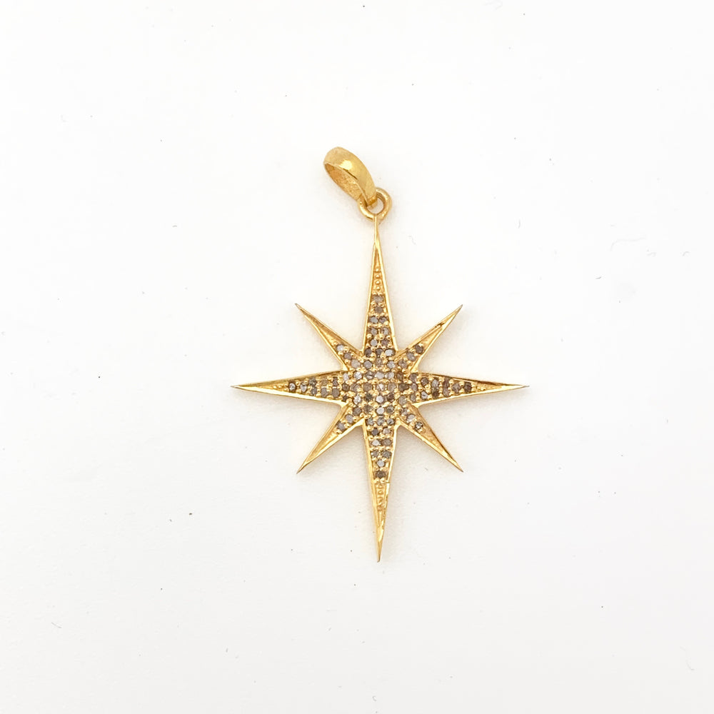 Load image into Gallery viewer, Gold Starburst Pendant