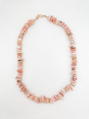 Pink Opal Chip Necklace
