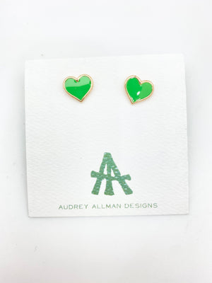 Load image into Gallery viewer, Enamel Heart Stud Earring