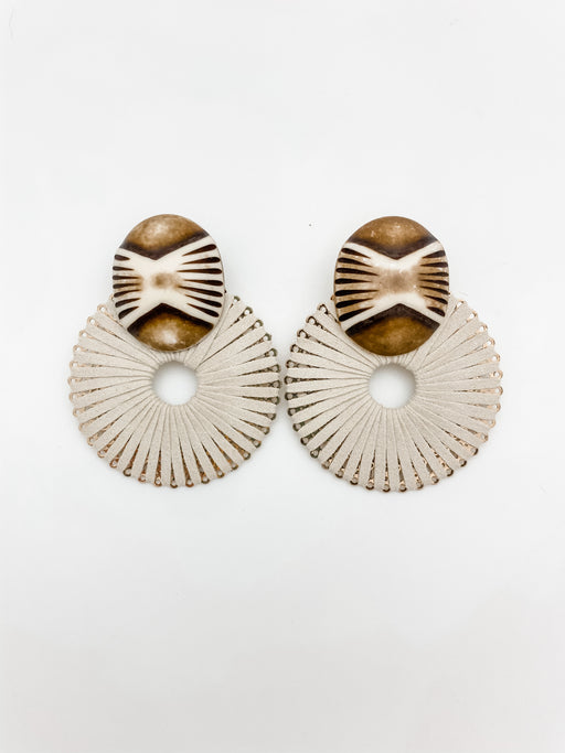 Paraguay Earring Cream Suede