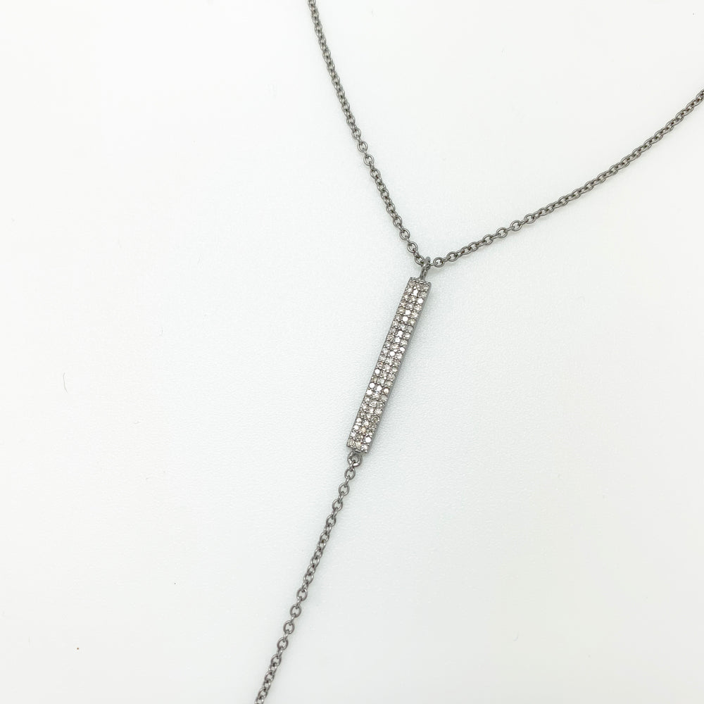 Load image into Gallery viewer, Pave Diamond Lariat