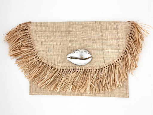 Raffia and Straw Clutch