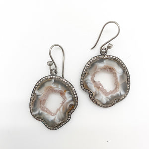 Load image into Gallery viewer, Agate Slice Earrings