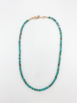 Load image into Gallery viewer, Turquoise and Gold Layer Necklace