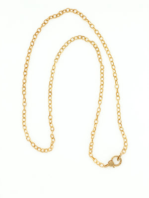 Gold Vermeil Chain with Pave Diamond Clasp