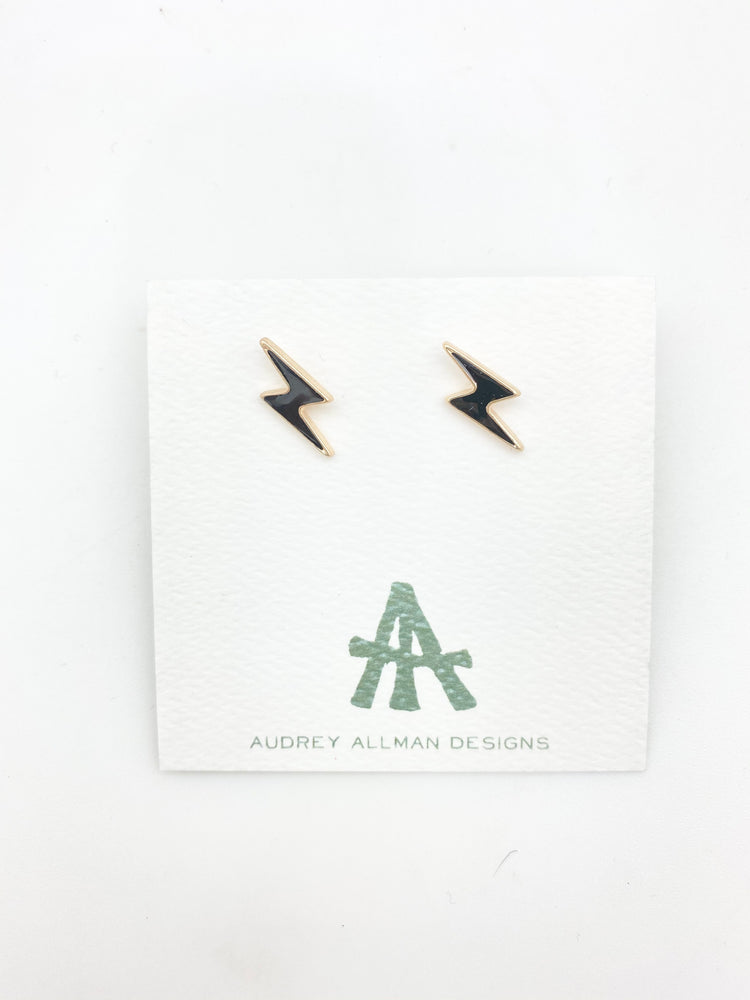 Enamel Bolt Earring Small