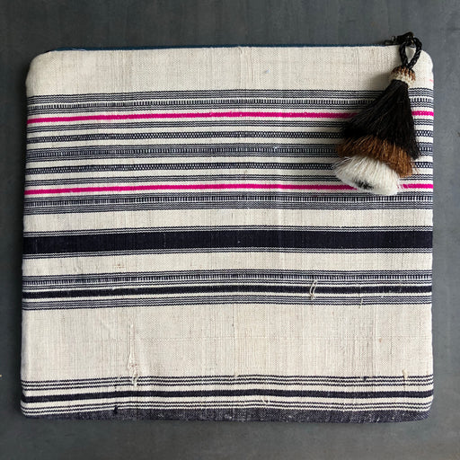 Clutch Pink and Navy Stripe