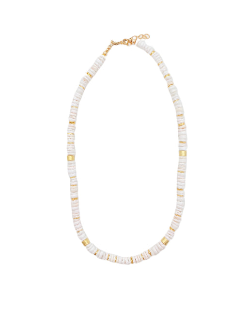 White Shell Layer Necklace