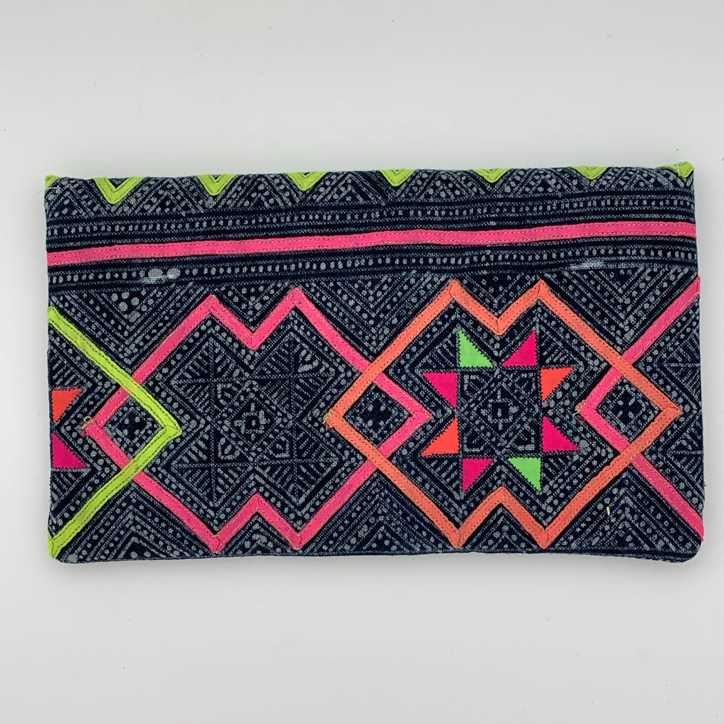 Clutch Navy and Green