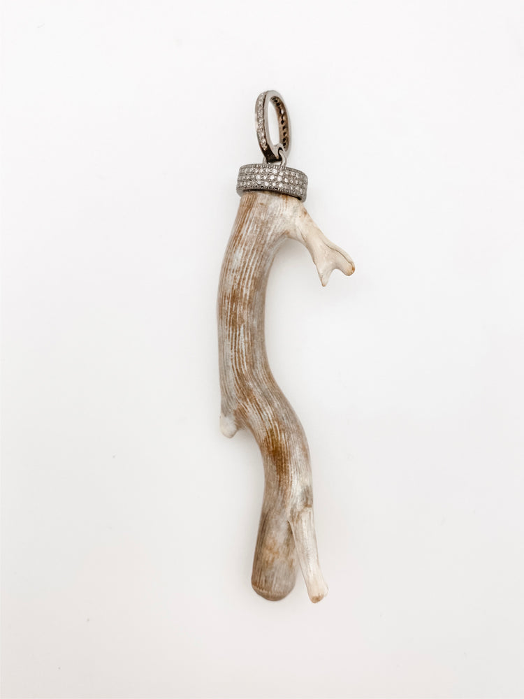 Fossilized Wood Branch Pendant