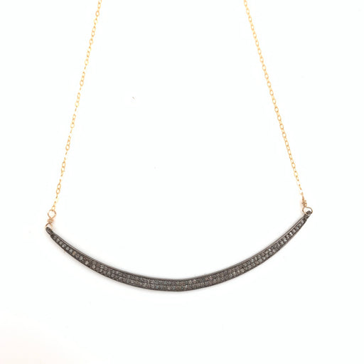 Pave Diamond 2 row Bar Necklace