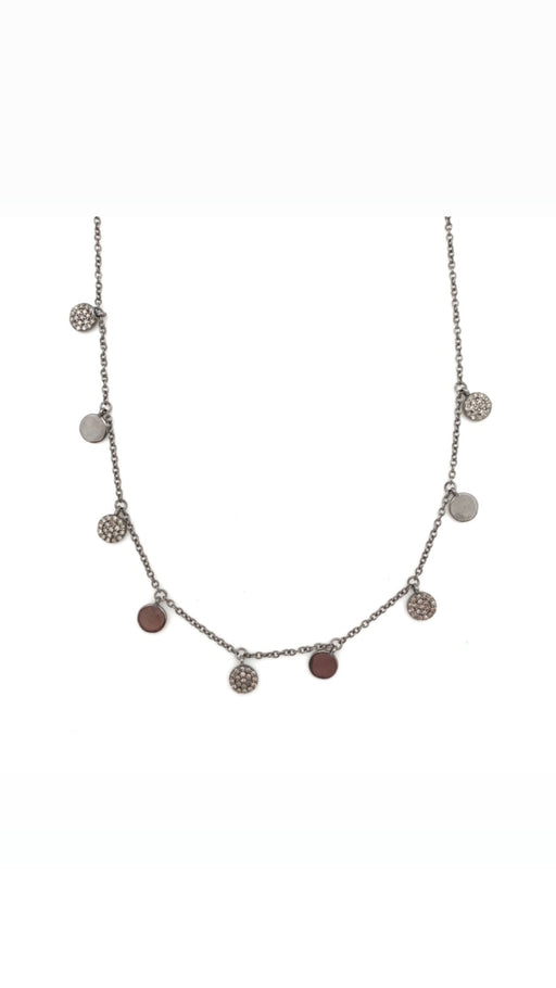Pave Diamond Coin Necklace