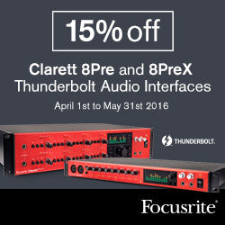 For a limited Time Only: Clarett 8Pre and 8PreX 15% off