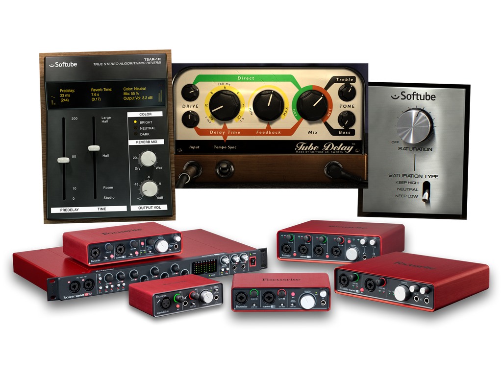 Focusrite Softube Bundles for Scarletts, Clarett and Saffires