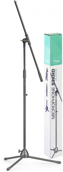 Microphone boom stand with folding legs MIS-0822BK