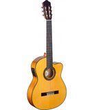 Angel Lopez 4/4 cutaway acoustic-electric flamenco classical guitar (Thin Body)