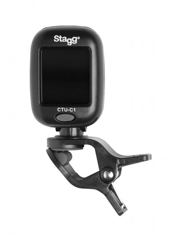 Black automatic chromatic clip-on tuner CTU-C1