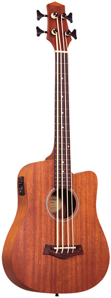 "Gold Tone 23"" fretless acoustic-electric microbass with mahogany top and bag included"