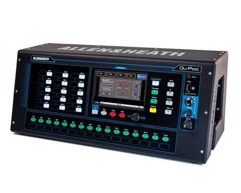 "QUPAC 32-Mono/3St i/p 4FX Digital Mixer with 5"" Touchscreen"