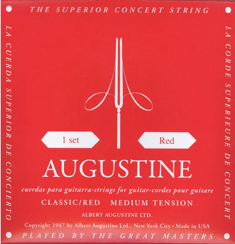 Augustine Regals Red Guitar Strings