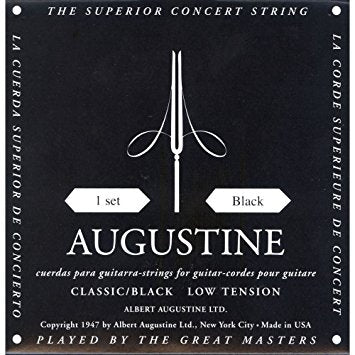 Augustine Black Set Guitar Strings