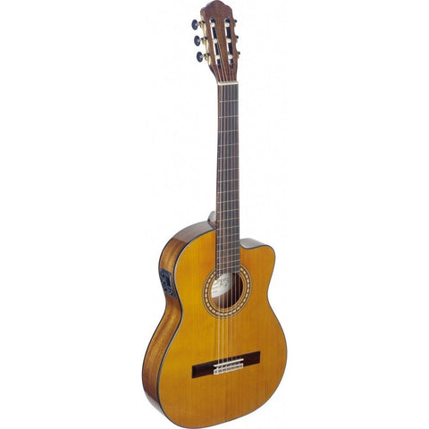 Angel Lopez SIL-TCE HG Silvera Series Thin Body Cutaway Acoustic-Electric Classical Guitar