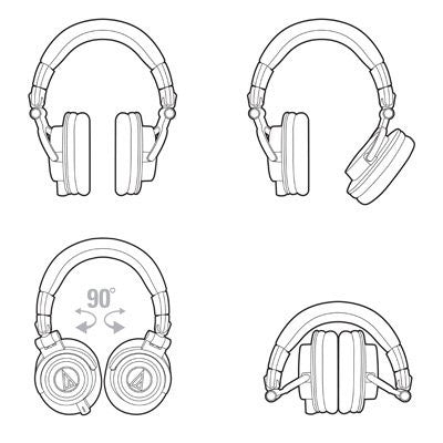 Audio-Technica ATH-M50X Pro Studio Headphones