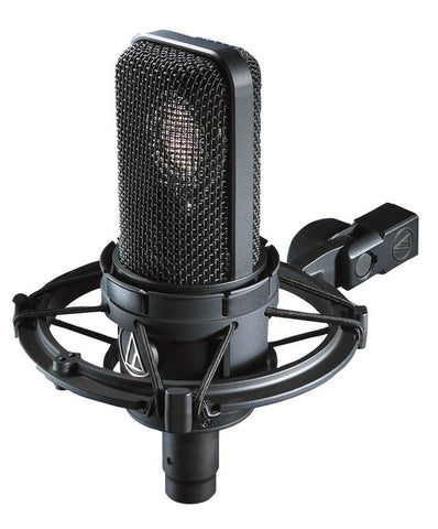 Audio Technica AT4040SM Cardioid condenser large diaphragm microphone with AT8499 shock mount