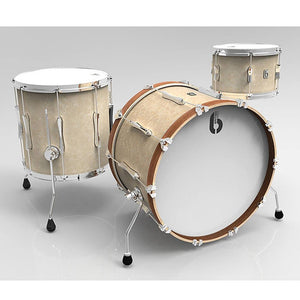British Drum Co Lounge Series Drum Kits (Wiltshire White)