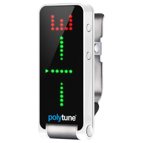 PolyTune Clip Electric Guitar Clip-on Tuner (Black/White)