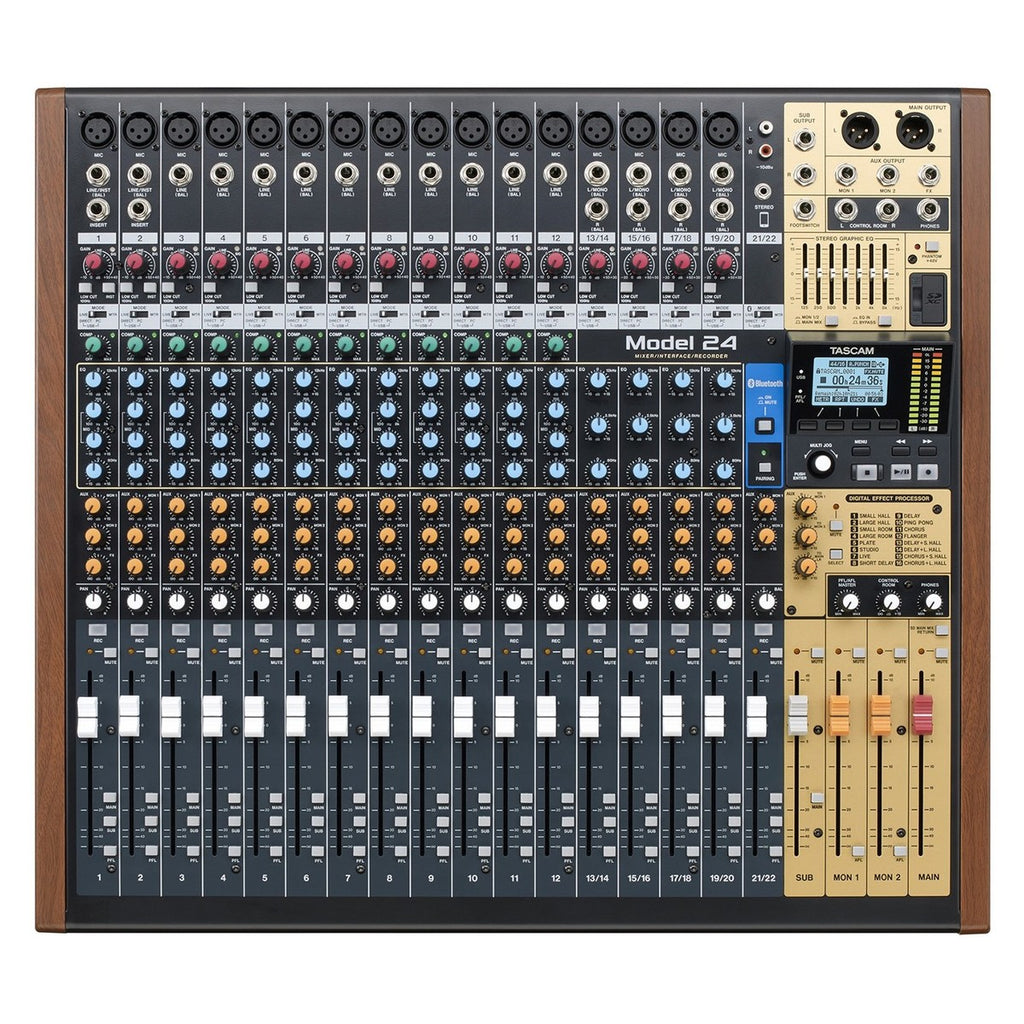 Tascam Model 24 Analog Mixer With Digital Recorder Red Apple Audio Room