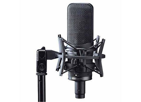 Audio Technica Multi-Pattern Condenser Large Diaphragm Microphone with Isolation Mount