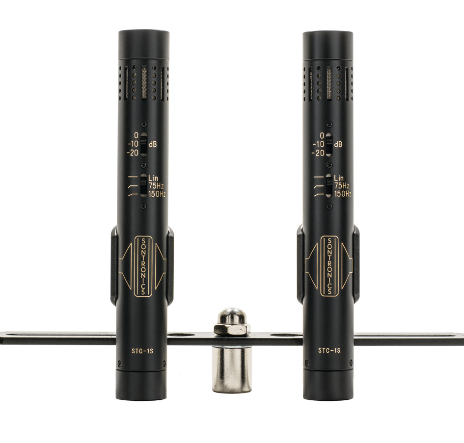 STC-1S pair of condenser mics (Black/Silver)