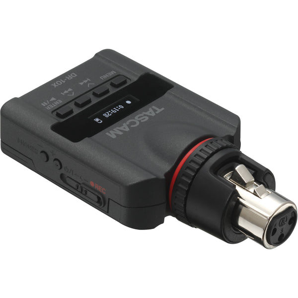 Tascam DR-10X Plug-on Micro Linear PCM Recorder for XLR Microphones