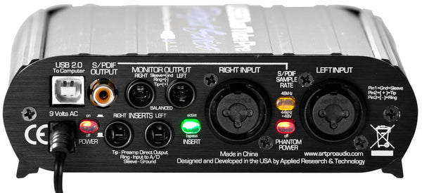 ART USB Dual Pre Stereo Preamp With USB