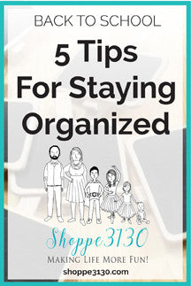 Get Organized - Back to School 2016