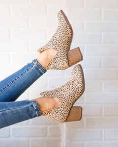 SALE Cheetah Ankle Bootie