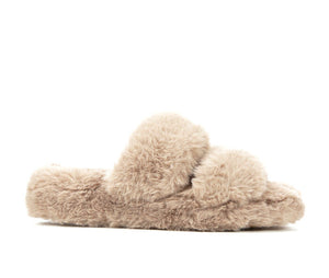 Girls Slumber Party Tan Slippers