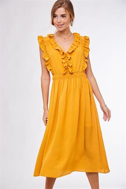 Honey Mustard Midi Dress