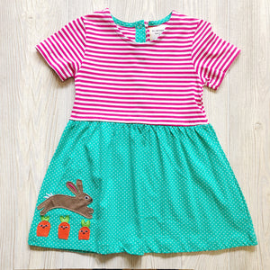 Girls Rabbit Carrot Dress - Shoppe3130