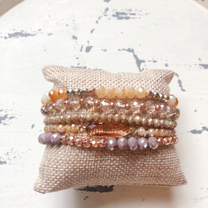 Rose Gold Beaded Bracelet Set - Shoppe3130