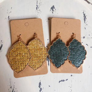 Basketweave Fancy Earrings - Shoppe3130