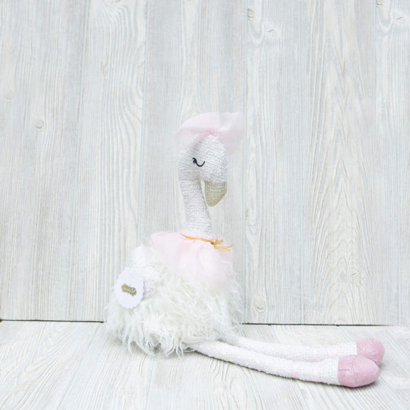 Mudpie White Swan Stuffed Animal