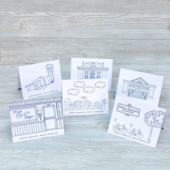 North Augusta Notecard Set - Shoppe3130